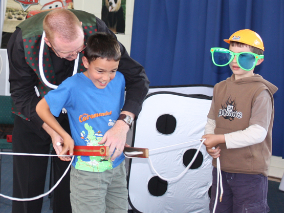 Andy performs magic shows for pre-school and school children's entertainment